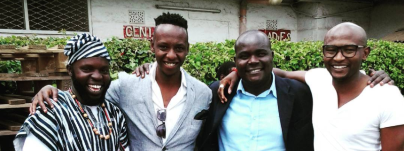 Titus Kuria with his mentor Wilson Masaka