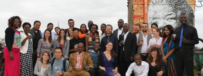 Social Innovation Management Fellows graduating at Amani Institute