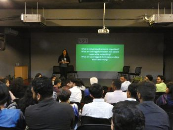 Workshop on Networking by Shehzia Lilani