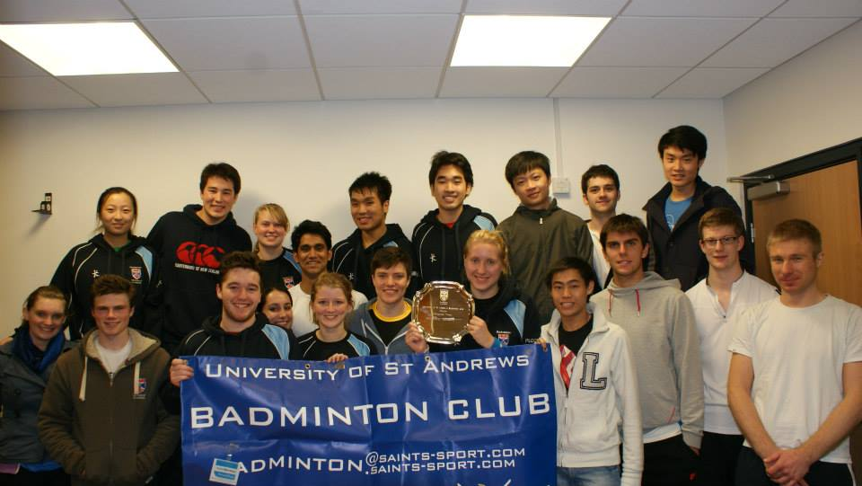 Participants of the St. Andrew's Badminton Championships
