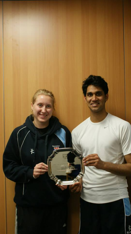 Maneesh Kuruvilla, one of the winners of the St. Andrews's Badminton Championship